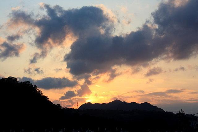 坪林拱橋看夕陽