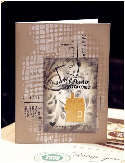 2015年6月紙膠帶課程介紹(森林小屋卡&巴黎鐵塔卡)