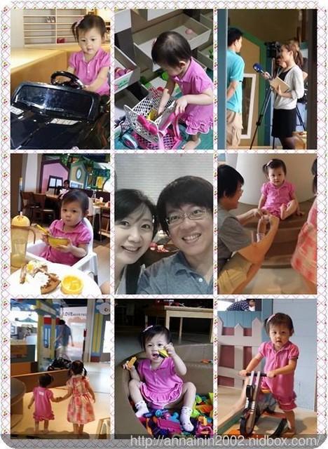 小櫻桃&小櫻花於La Play 樂玩親子空間之小孩真的好忙篇-2016年7月